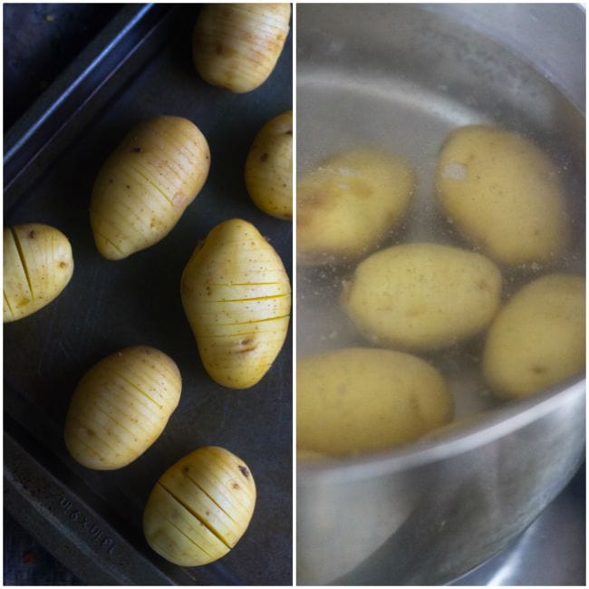 how to make hassle back potatoes